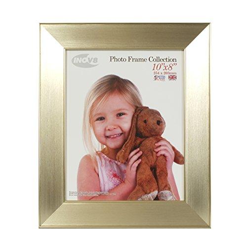 Innov8 PFE-TECM-108 Traditioneel Briten foto frame, 20 x 25 cm, verpakking met 4, dubbele hoekige champagne