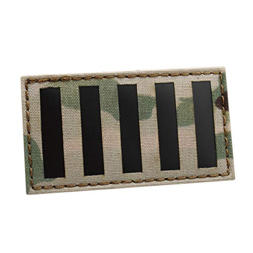 IR Multicam Sons of Liberty Stamp Act Flag 2x3.5 American 9-Stripes Revolution Patriot Tactical Patch