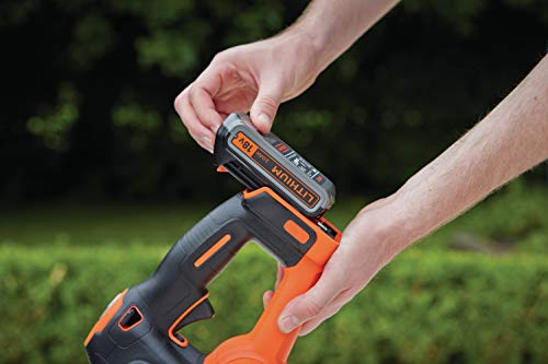 BLACK+DECKER GTC18502PC-QW Tagliasiepi PowerCommand a Batteria Litio 18V-2.0Ah, Lunghezza lama 50cm