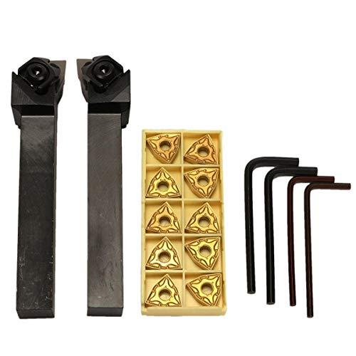 Torno CNC herramienta de corte con 10 piezas WNMG080404 insertos WWLNR/L1616H/K08 16x100mm torno torno torno torno torno torno torno accesorios