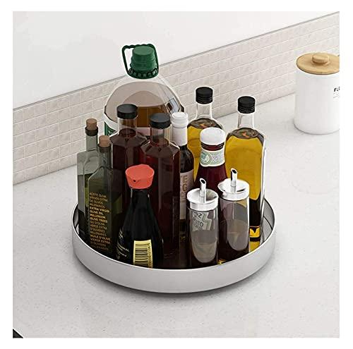 Qianglin Turnátil de Acero Inoxidable de Susan Lazy, Organizador de Rack de Especias para gabinete, Estante de Soporte de Especias giratorias, Cargador de condimento de Cocina (Color : 32cm/12.5in)