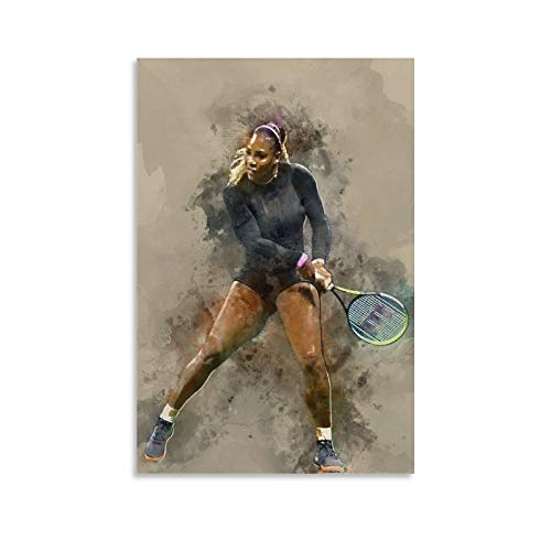 WODEWO Póster de la famosa estrella de los deportes de tenis Serena...