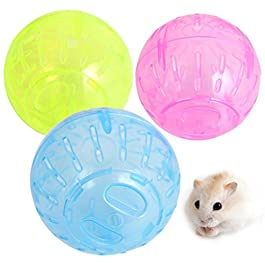 DRESS_Pet Pet Rodent Mice Jogging Hamster Gerbil Rat Toy Plastic Exercise Ball Lovely (Colour Random)