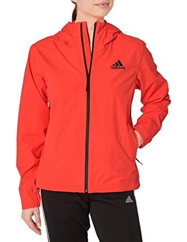 adidas Damen-Regenjacke mit 3 Streifen, Damen, Jacke, W Bsc 3s R.rdy, Solarrot, X-Large