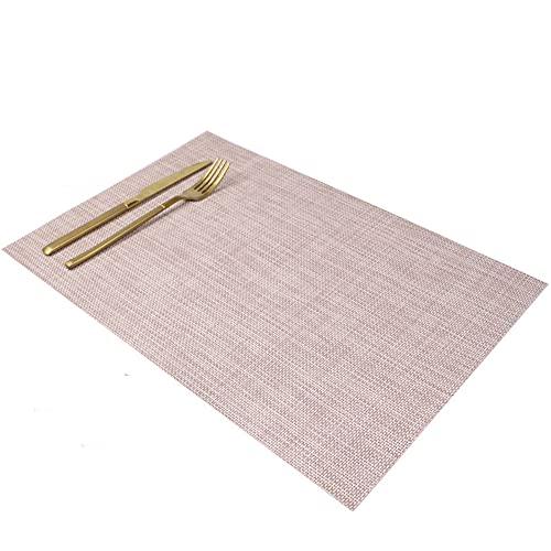 Manteles individuales,Alfombrilla de comida occidental de hotel de estilo japonés, 8 piezas de lino de estilo europeo, almohadilla de aislamiento térmico grueso, blanco roto