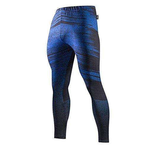 FRINGOO Mens Compression Superhero Tights Base Layer Leggings Gym Long Running Thermal Workout (X-Large, Illuminati - Tights)