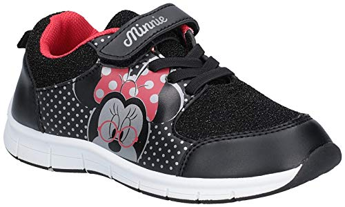 Leomil Girls Minnie Mouse Lace Up Casual Polka Dot Trainers