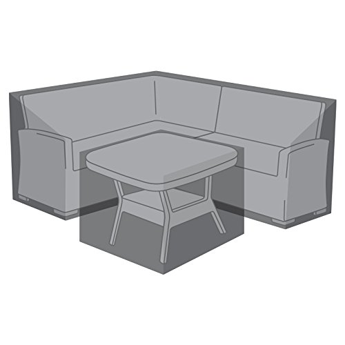 Nova Outdoor Living Garden Table Chairs Patio Furniture PVC Protector Weatherproof Cover Compact Corner Sofa Dining Set, Black