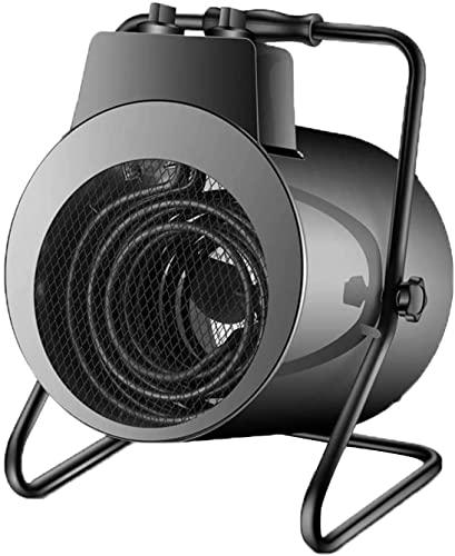 LLRZ Termoventilador Calentadores Eléctricos El Calentador Industrial con la protección del sobrecalentamiento Sólo trifásico C.A.Encendido hasta 9000W Vertical Calefactor (Color : Black)