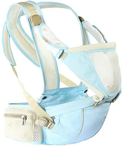 Porte-bébé HZYD Tabouret Taille Horizontale Hug Multifonctionnel Four Seasons Respirant bébé Tabouret Coton Bleu Royal (Respirante) (Couleur: Bleu Royal) (Couleur: Bleu Menthe), Couleur: BL