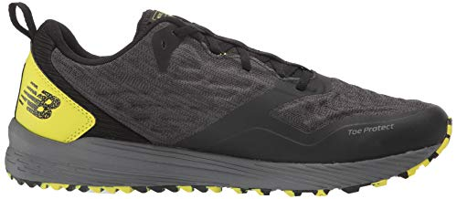 New Balance Men's Nitrel V3 Trail Running Shoe, Black/Yellow, 11 D US 4