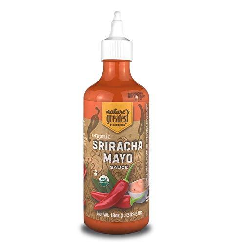 Nature's Greatest Foods, Organic Sriracha Mayo Sauce, Vegan, Gluten Free, 18 Ounces