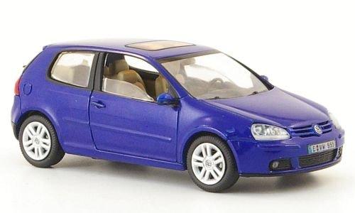 VW Golf V, met.-blau, 3-türig, Modellauto, Fertigmodell, Schuco 1:43