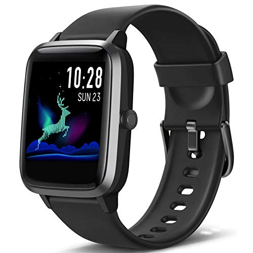 Blackview Smartwatch, Fitness Uhr Voller Touch Screen Fitness Tracker mit Pulsmesser, 5ATM Wasserdicht, Aktivitätstracker Sportuhr Schrittzähler Damen für Herren Stoppuhr für iOS Android