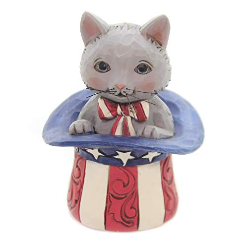 Enesco Jim Shore Heartwood Creek Mini Patirotic Kitten Figurine