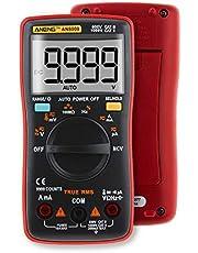 HaiQianXin AN8009 True-RMS Auto range multimeter Digital NCV Ohm AC/DC spanning ampèremeter stroommeter temperatuurmeting (kleur: oranje)