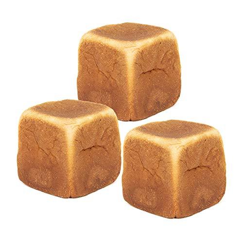 糖質制限 低糖質 冷凍パン 然オリジナル大豆キューブパン 糖質1枚あたり3.7g イーストフード 乳化剤不使用 ローカーボ (3個)