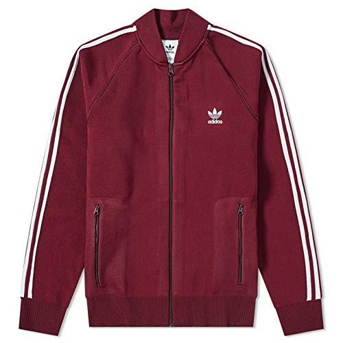 adidas BF Knit TT Chaqueta, Hombre, Rojo (Granat), S