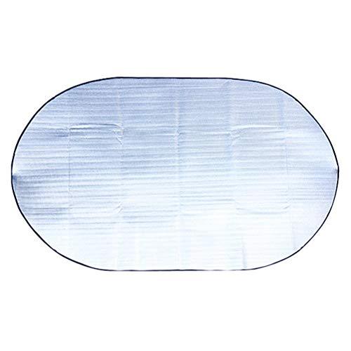 ABOOFAN Alfombra portátil para tienda al aire libre a prueba de humedad película de aluminio dormir colchón camping senderismo manta de picnic cojín para exterior (plata)