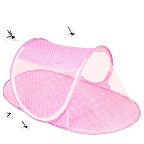 Mosquitera para niños, NALCY Mosquitera para niños, Cama de bebé portátil, Cuna de Viaje para bebé, Cuna Plegable con mosquitera, para 0 a 24 Meses (Pink