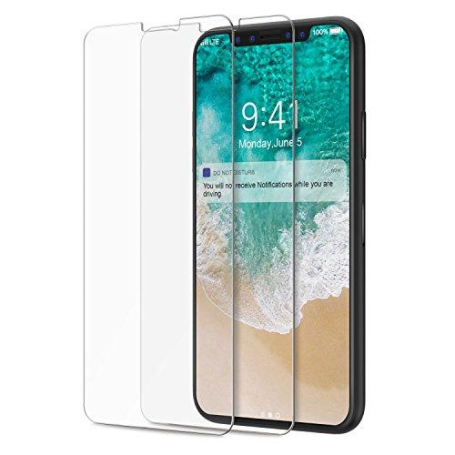 Maju 2x folia pancerna szkło ochronne ochrona wyświetlacza folia ochronna na wyświetlacz szkło hartowane 9H (Apple iPhone X)