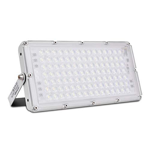 Bellanny 100W LED Strahler Außen, 10000LM LED Fluter, 6500K Kaltweiß Superhell LED Floodlight, IP65 Wasserdicht Scheinwerfer, für Garten, Garage, Sportplatz, Hotel ect