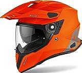 Casco Airoh Commander Color Naranja Fluorescente Mate XXL