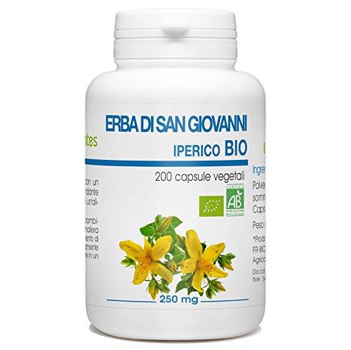 Erba di San Giovanni Bio - Hypericum Perforatum - 250mg - 200 capsule vegetali