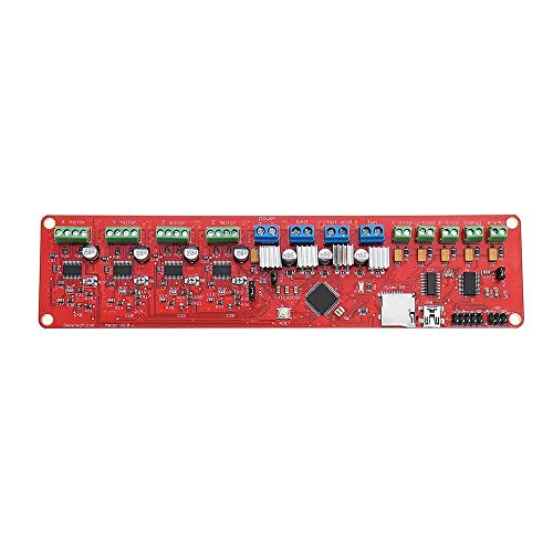 ChenYongPing Function 3D Printer Motherboard, 3D Printer Controller Panel Board 2.0 Control Board 1284P Prusa I3 Controller Board Mainboard For 3D Printer (Color : Red, Size : One size)