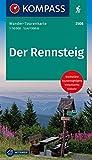 Der Rennsteig, WTK 2508: Wander-Tourenkarte. GPS-genau. 1:50000 (KOMPASS-Wander-Tourenkarten, Band 2508)