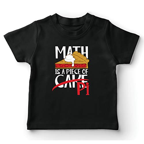 lepni.me Kids T-Shirt Math is een stuk taart Pi nummer grappige wiskunde zeggen