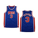 MEIBAO Jersey De Baloncesto,3# Drazen Petrovic Nets Retro Malla Transpirable Jersey, Baloncesto Swingman Jersey Gimnasio Cómodo Chaleco Cumpleaños Masculino-L