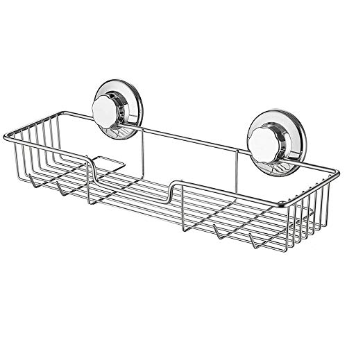 iPEGTOP L4 Strong Suction Cup Shower Caddy Bath Shelf Storage Combo Organizer Basket for Shampoo Soap Conditioner Razor Bathroom Accessories  Rustproof Stainless Steel