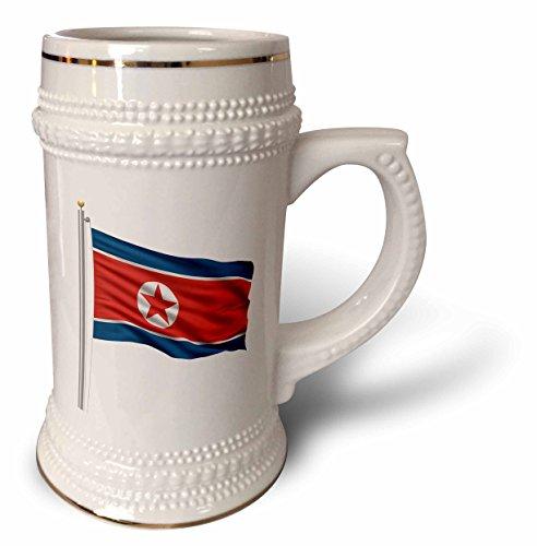 3dRose Tasse Nordkorea auf einem Flaggenmast über weiß, koreanischer Stein, 570 ml (STN_157193_1), 625 ml