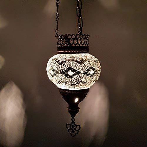 Handmade Turkish Moroccan Bohemian Style Mosaic Hanging Candle Tea Light Lamp Lantern Non-Electric - UK Seller