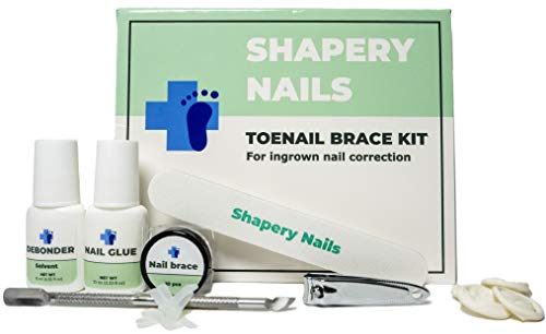 All you need - ingrown toenail removal home treatment kit by Shapery Nails. 10 Toenail braces, nail clippers to outgrow and lift ingrown nails. Pedicure tools for quick nail curvature correction.