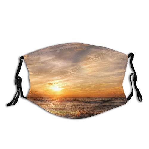 Uliykon Strandtuch Gesicht Ma_sk waschbar wiederverwendbar Mund Ma_sk atmungsaktive Abdeckung mit verstellbaren Ohrschlaufen zum Schutz