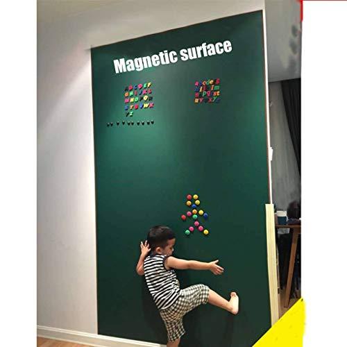 Etiqueta De La Pared Magnética Pizarra Borrable, Protección del Medio Ambiente Autoadhesiva Pizarra Pegatinas De Pared para Restaurante Cuarto De Niños-100x250cm(39x98inch)-Verde