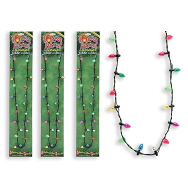 Lotsa Lites Christmas Holiday Flashing Light Bulbs Necklace (sold individually) [Holiday Gifts]