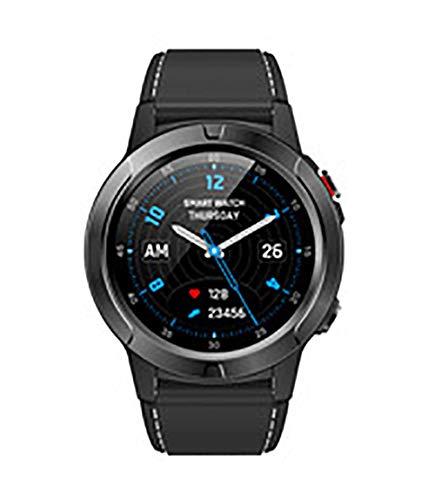 Reloj inteligente, pantalla IPS de 1,3 pulgadas, GPS integrado, posicionamiento preciso, modo multideporte, detección de salud, compatible con Android e iOS (color: negro).