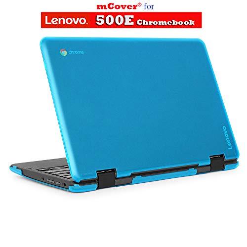 mCover Hard Shell Case for 2018 11.6' Lenovo 500E Series 2-in-1 Chromebook Laptop ( NOT Fitting Lenovo N21 / N22 / N23 /100E / 300E / Flex 11 Chromebook ) ( C500E Aqua )