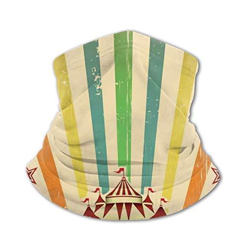 JONINOT Halsschutz Schal Winddichte Maske-Old Circus Carnival Werbung Thema Streifen...