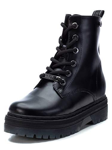 XTI - Botín Militar para Niña - Cierre con Cremallera - Color Negro - Talla 31