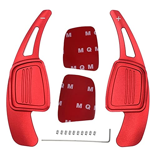 Hoja de cambio de extensión 2 Unids/Lote Palanca De Cambios De Volante De Coche Para Au-di A4L A5 Q7 TT TTS S4 Q2 S3 2015 2016 2017 (Color : Rojo)