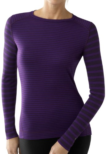 Smartwool Damen Pull Midweight Pattern Crew pour Femme, SS215, à Rayures, Taille L