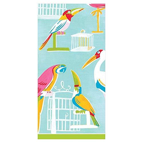 2 packs van Caspari Paper Pocket handtas Tissues - Hankies - De volière vogels papegaaien
