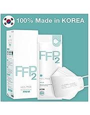 FFP2-ademhalingsmasker [25 St] / Gemaakt in Zuid-Korea/CE-gecertificeerd/Dermatest goedgekeurd/hygiënisch - individueel verpakt/verborgen neusstuk / 3D-ontwerp / 4-laags