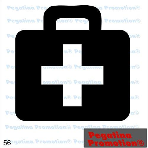 Piktogramm Typ 56 Icon Symbol Zeichen Arztkoffer Erste Hilfe Doktor Medizin Verbandskasten Aufkleber Sticker ca.15cm von Pegatina Promotion® Aufkleber mit Verklebehilfe von Pegatina Promotion® ohne Hintergrund geplottet