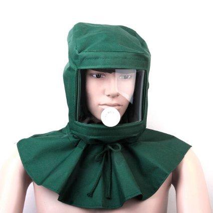 CSLU Sand Blasting Hood Cap Shawl Cap Sandblaster Mask Anti-dust Hood Protective Gear Canvas Mask