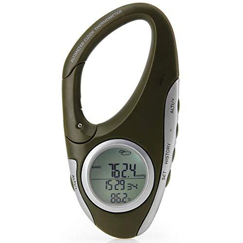 Sahgsa Höhenmesser Wandern Altimeter Barometer mit Thermometer Camping ausrüstung zum Klettern Camping Draussen Messbereich